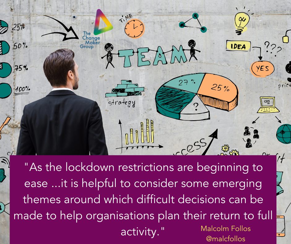 Themes for Leaders to consider as lockdown restrictions begin to ease