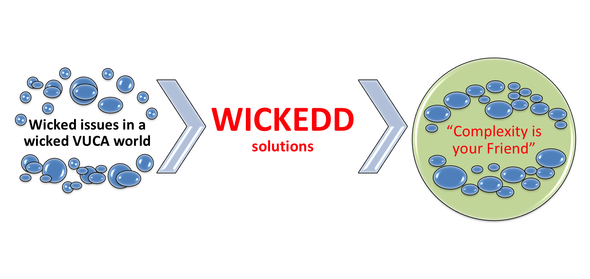 The Art of Coping with Complexity or Wicked issues need WICKEDD solutions